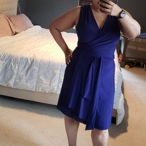 41 Hawthorn Plum Faux Wrap Dress - Size XL